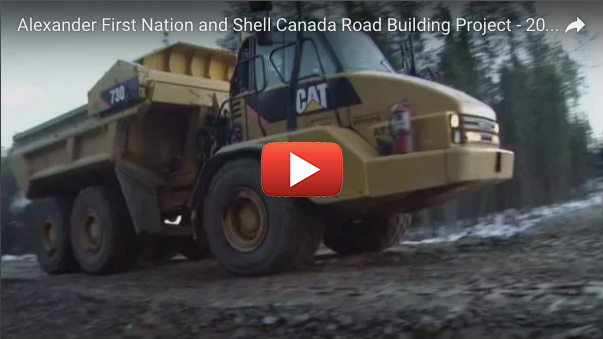 Alexander First Nation and Shell Canada Road Building Project - 2015